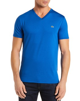 Lacoste - Pima Cotton V-Neck Tee