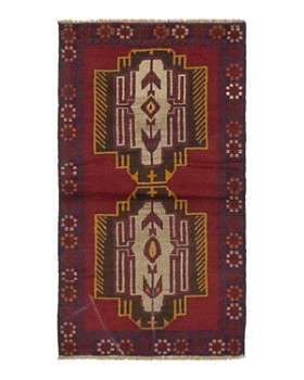 """Solo Rugs - Balouch Aimag Hand-Knotted Area Rug, 3'6"""" x 6'6"""""""