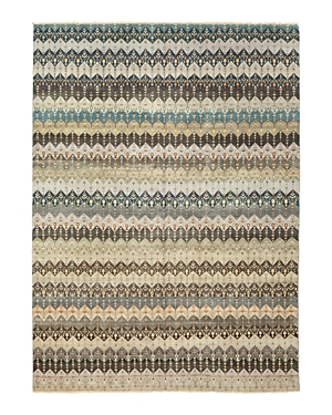 Solo Rugs Ikat Tiruppur Hand-Knotted Area Rug, 10'1 x 14'1