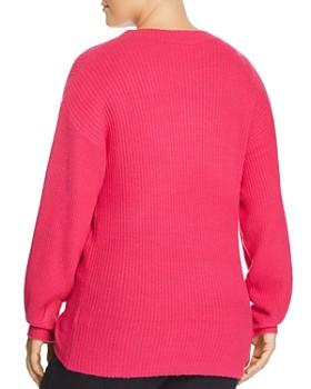 GLAMOROUS CURVY - Ribbed Pleat-Cuff Sweater