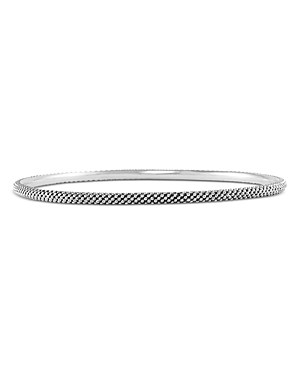 Lagos Sterling Silver Signature Caviar Large Bangle Bracelet