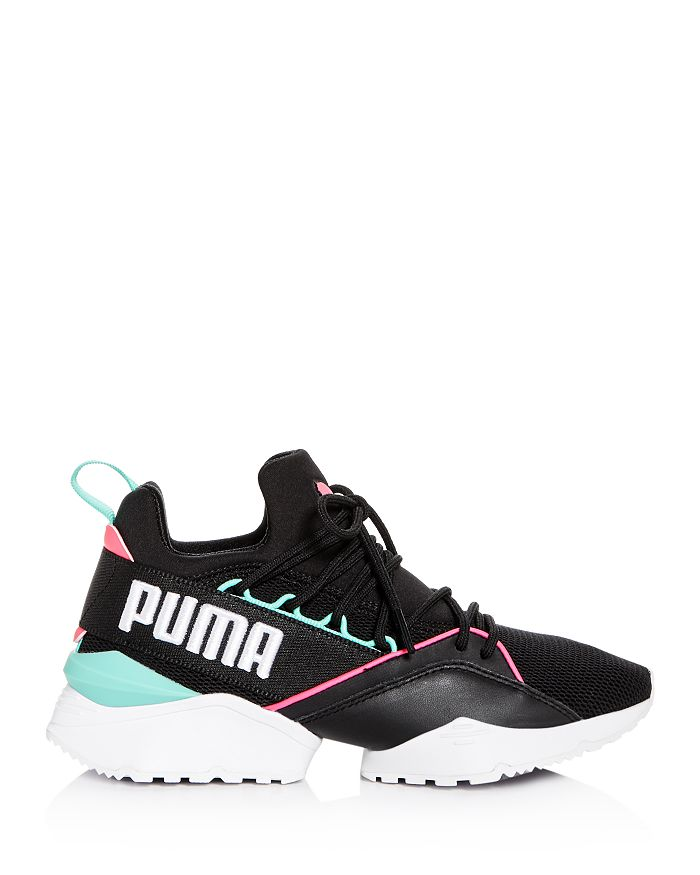 53559b5c7bd PUMA - Women s Muse Maia Street Knit Lace Up Sneakers