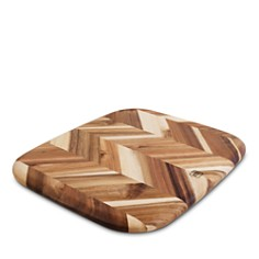"Architec - Herringbone Acacia Cutting Board, 12.5"" x 14.5"""