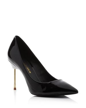 Women'S Britton 90 Pointed-Toe Pumps in Black Leather