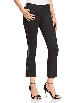 36908113533 J Brand Selena Mid Rise Coated Cropped Bootcut Jeans in Admiration ...