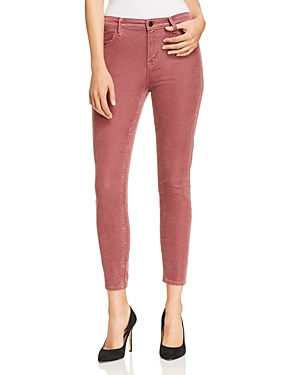 J Brand Alana Velvet Corduroy High Rise Jeans in Madame