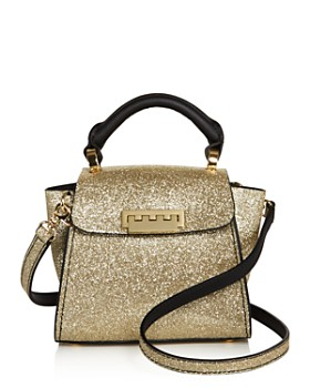 1aa32ae9c9 ZAC Zac Posen - Eartha Iconic Mini Top Handle Glitter Leather Satchel ...