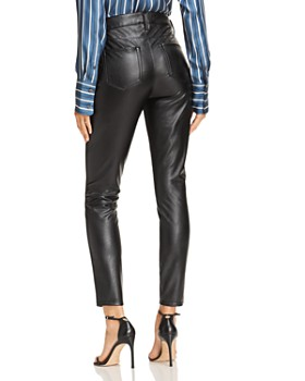 AQUA - Faux Leather Skinny Pants - 100% Exclusive