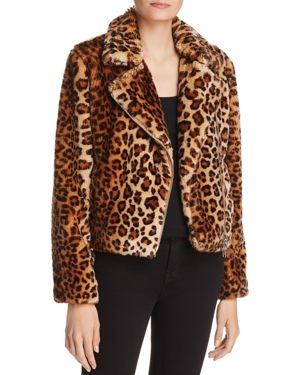 Hudson Leopard Faux Calf Hair Jacket