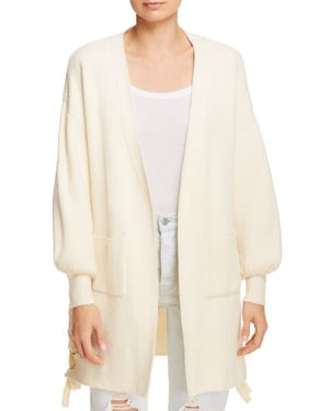 SAGE THE LABEL Sage The Label 52Nd Street Open-Front Cardigan in Ivory