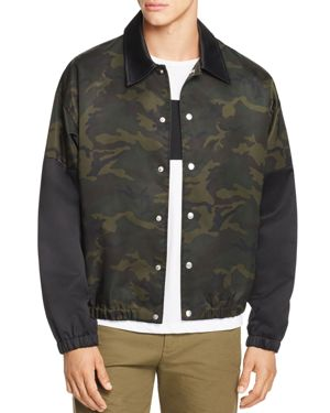 Helmut Lang Camouflage-Print Coach Jacket