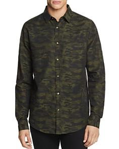 Sovereign Code - Camouflage-Print Regular Fit Sport Shirt