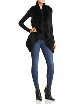 C by Bloomingdale's - Rabbit Fur & Cashmere Vest - 100% Exclusive