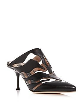 Sergio Rossi - Women's Zebra-Print Cutout High-Heel Mules