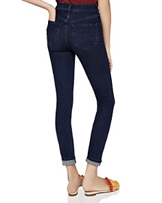 BCBGeneration - Mid-Rise Skinny Jeans in Dark Wash