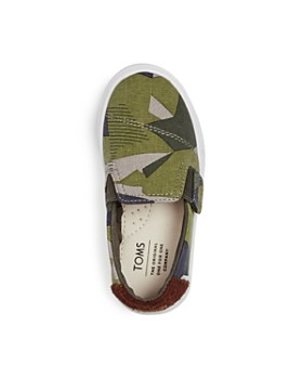TOMS - Boys' Luca Camo Print Slip-On Sneakers - Baby, Walker, Toddler