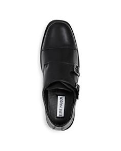 STEVE MADDEN - Boys' Chaaz Leather Double Monk Strap Loafers - Little Kid, Big Kid
