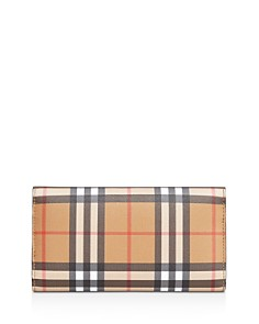 Burberry - Vintage Check Medium Leather Continental Wallet