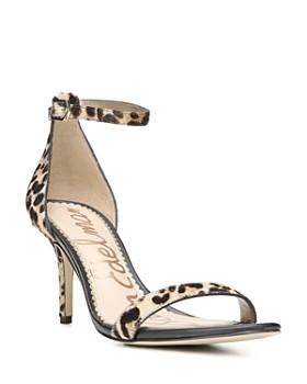 Sam Edelman - Women's Patti Open Toe Leopard-Print Calf Hair High-Heel Sandals