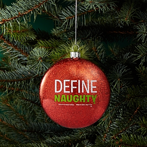 Kurt Adler Grinch Define Naughty Glass Ornament