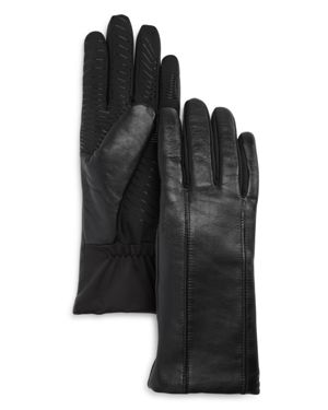 U/R Flex Seam Faux Fur-Lined Tech Gloves in Black