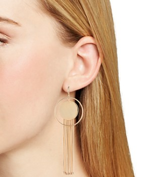 Trina Turk - Disc & Fringe Hoop Earrings