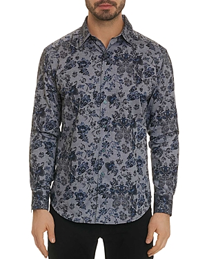 Robert Graham Barker Floral-Print Classic Fit Shirt