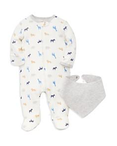 Little Me Boys' Safari Animal Print Footie & Bib Set - Baby - Bloomingdale's_0