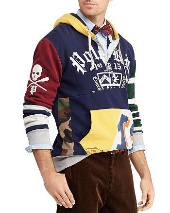 04af90252da5 Polo Ralph Lauren - Patchwork Rugby Hooded Sweatshirt