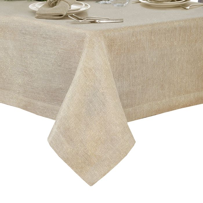 Villeroy & Boch La Classica Metallic Tablecloth, 70 X 96 In Natural/gold