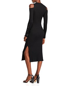 Current/Elliott - The Going Steady Cold-Shoulder Rib-Knit Dress