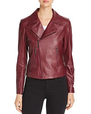 Elie Tahari Mae Leather Moto Jacket - 100% Exclusive