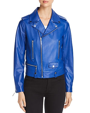 Elie Tahari Jacalyn Leather Moto Jacket - 100% Exclusive