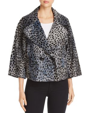 Elie Tahari Edna Cheetah-Print Calf Hair Jacket