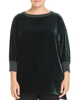 Lafayette 148 New York Plus - Joplin Velvet   Knit Top ... 41c8891fa
