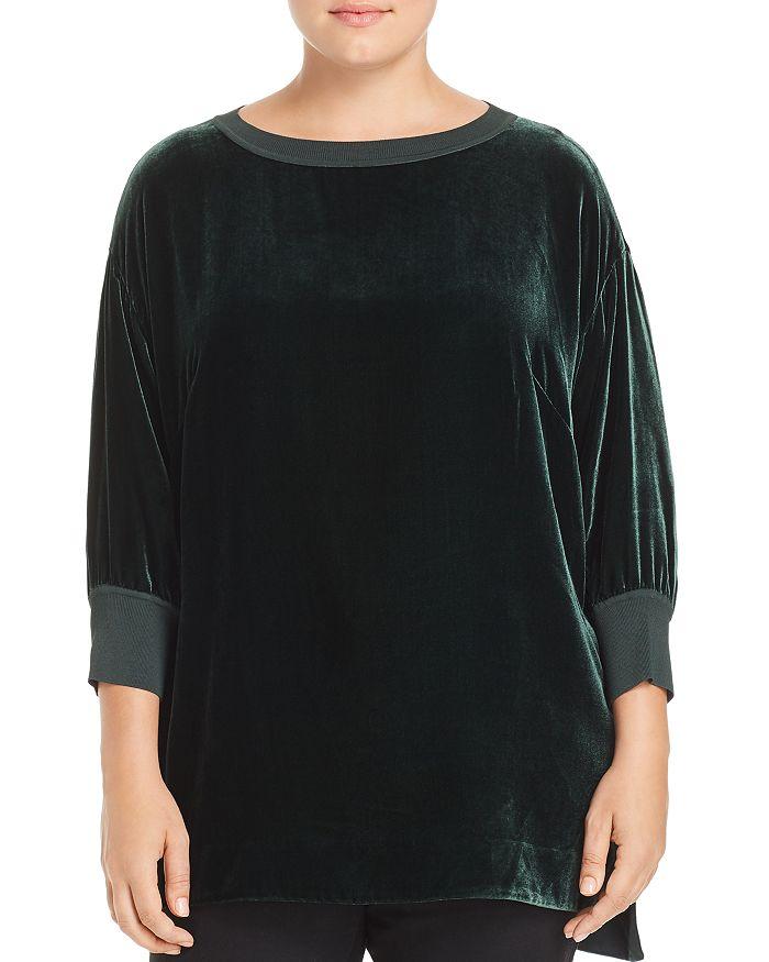 Lafayette 148 New York Plus - Joplin Velvet & Knit Top