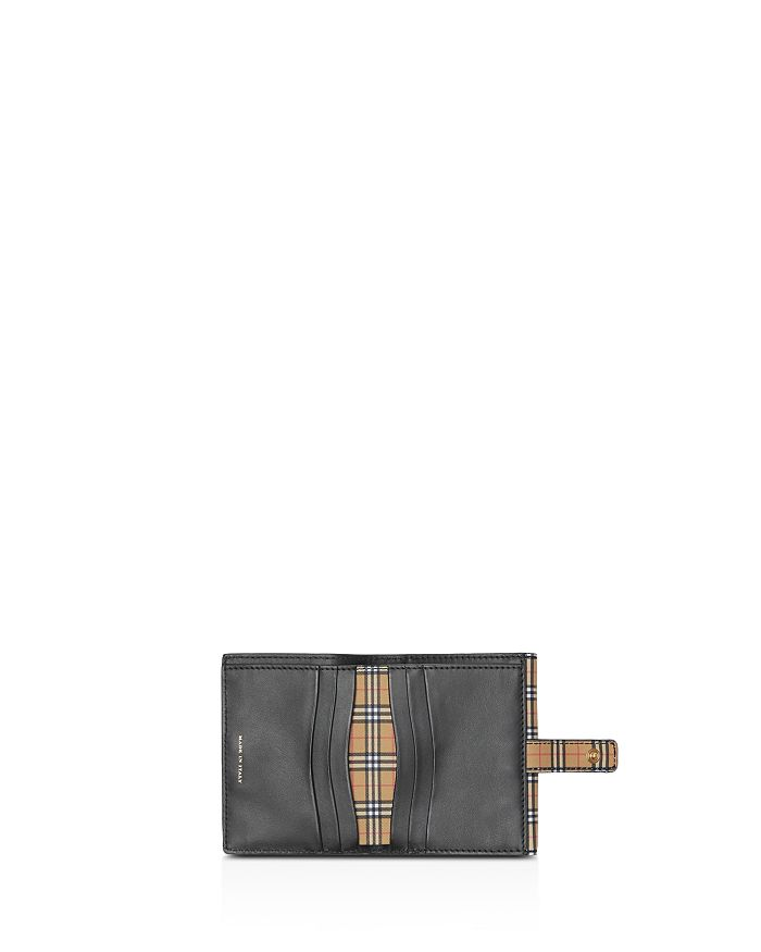 6b5a86953bd4 Burberry - Small Scale Check Leather Folding Wallet