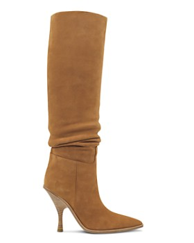 Sigerson Morrison - Women's Halie Suede Over-the-Knee High-Heel Boots