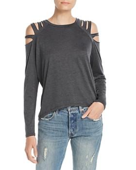 Elan - Cold-Shoulder Slit Top