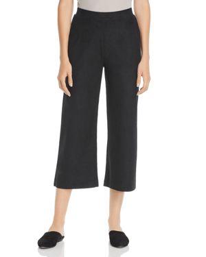 Lysse Faux-Suede Flare Crop Pants
