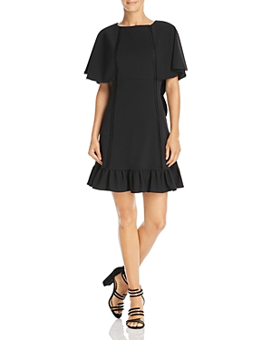 nanette Nanette Lepore Cape-Sleeve Dress