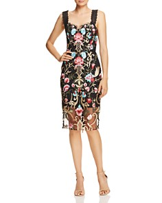 BRONX AND BANCO - Agata Embroidered Cocktail Dress