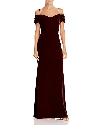 Laundry by Shelli Segal - Off-the-Shoulder Velvet Gown - 100% Exclusive