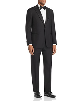 Emporio Armani - Black Regular Fit Peak-Lapel Tuxedo