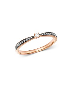 Bloomingdale's - Brown & White Diamond Ring in 14K Rose Gold with Black Rhodium - 100% Exclusive