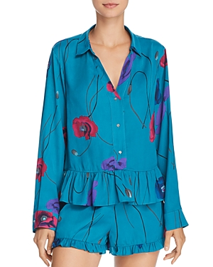 Josie Freestyle Printed Satin Shorty Pajama Set