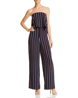 DO AND BE STRIPED STRAPLESS JUMPSUIT