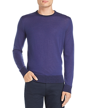 Theory Rothley Color-Block Merino Wool Creweneck Sweater