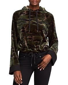 PAM & GELA - Velvet Camo Hooded Sweatshirt