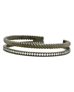 Freida Rothman -  Textured Synthetic Pearl Double Rope Cuff Bracelet